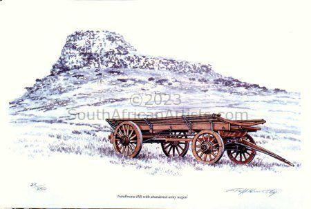 Isandlwana Hill With Army Wagon