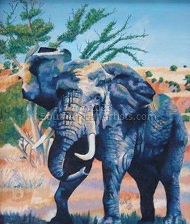 Elephant Bull in Bushveld