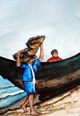 Fisherman In Goa India