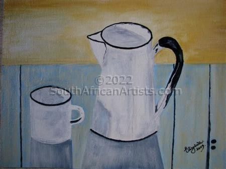 White Jug and Cup