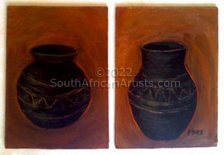 Fire Baked African Pots