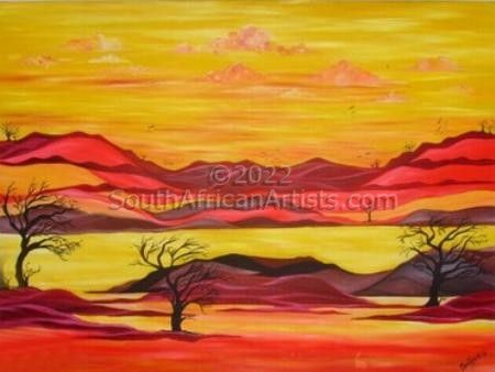 Africa - Our Sun Sets in Crimson