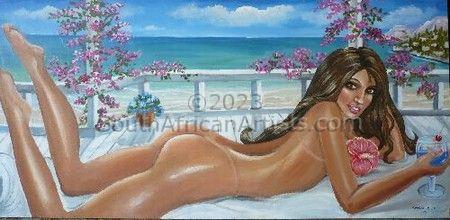 Nude Near to Seaside