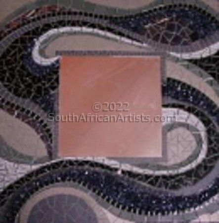 Black Mosaic Mirror