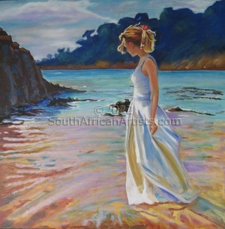 Girl Standing in the Sea
