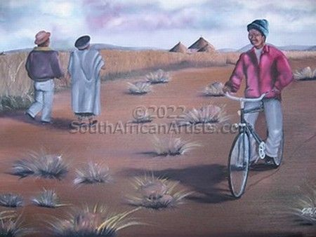 Zulu Couple And A Rider