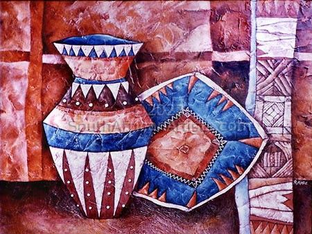Ethnic Pot and Plate Painting