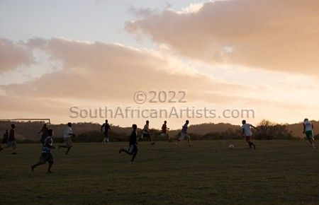 Evening Soccer Game 1, Transkei