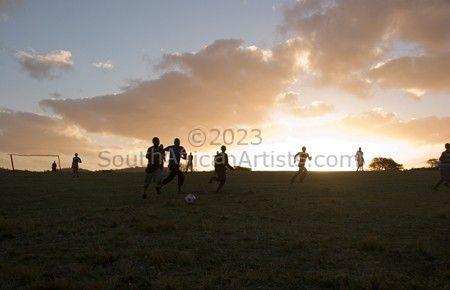 Evening Soccer Game 2, Transkei