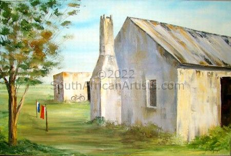 Farmhouse With Bicycle