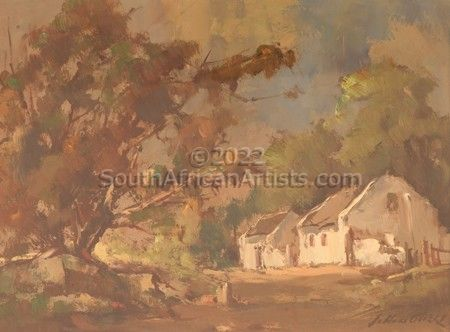 Trees With Cottage