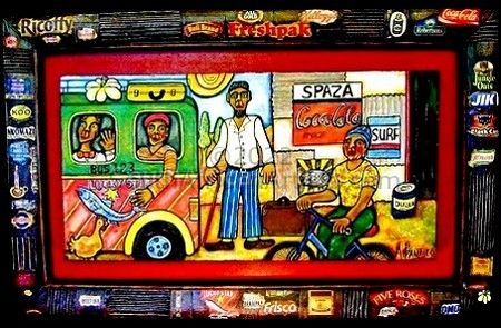 Spaza and bus