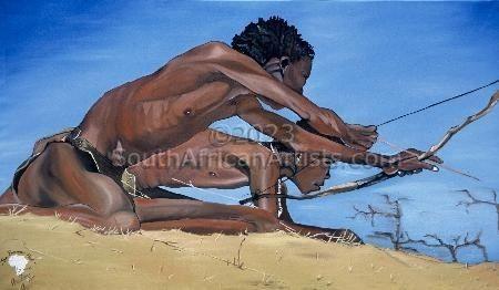 Bushmen Hunt - Print