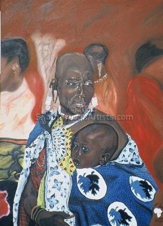 Maasai Mother & Child