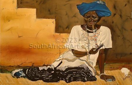 Xhosa Woman & Pipe - Print