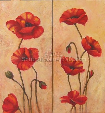 Poppies Diptych