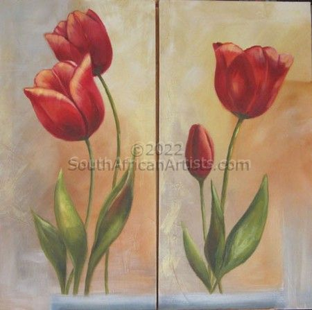 Tulips Diptych