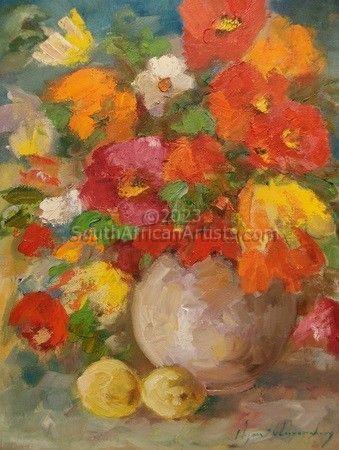 Bright Flowers in Vase