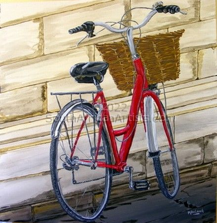 Red delivery bike