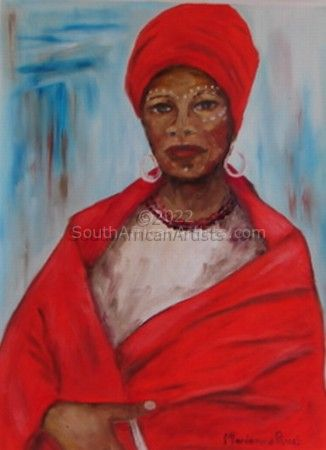 Xhosa Woman in Red 2