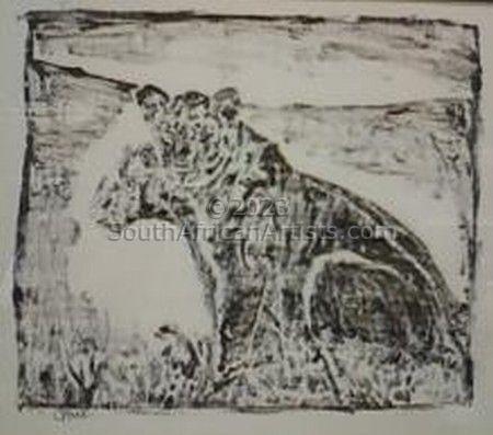 Ink Blot - Lioness