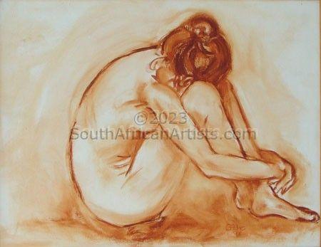 Sepia Nude - Anna Grieving