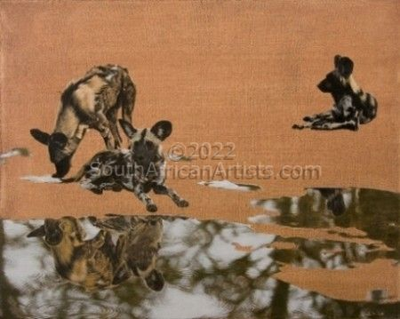 Wild Dogs on Red Earth