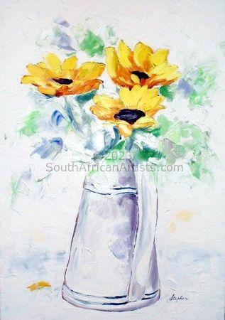 Sunflowers - Impasto