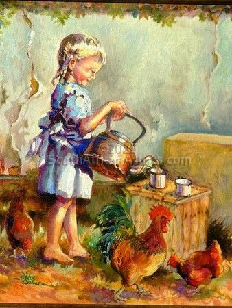 Girl with Kettle