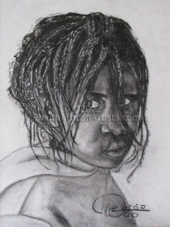 African Girl with Strands