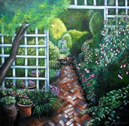 Trellised Garden Walkway