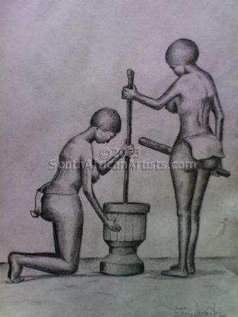 Girls Making Food