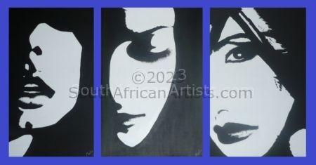 Black & White Profile Set 1