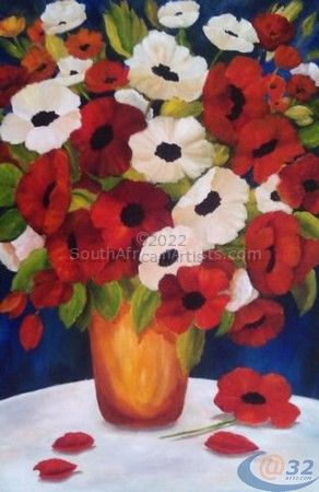Vase full of Poppies