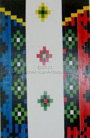 African beaded flag