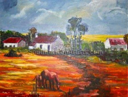 Karoo Farmhouse With Horses