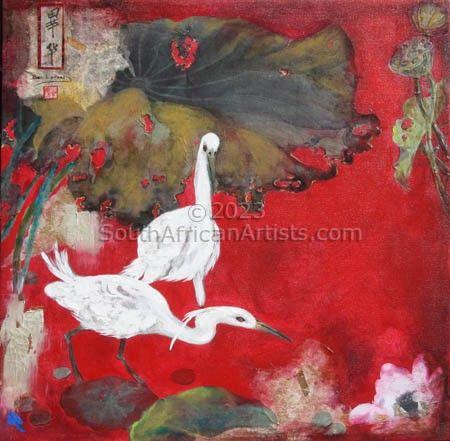 Egrets - Mixed Medium