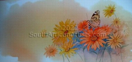Butterfly on the Daisies