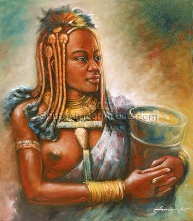 Himba Carrying Maize