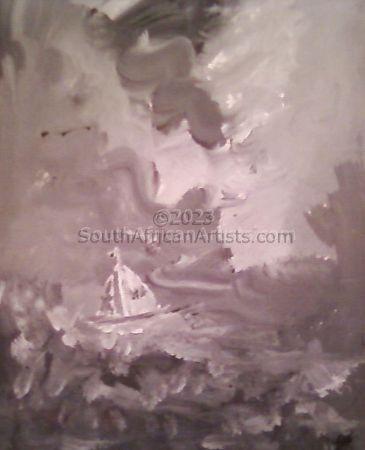 Grey Sea Boat
