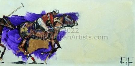Horse Sport Purple