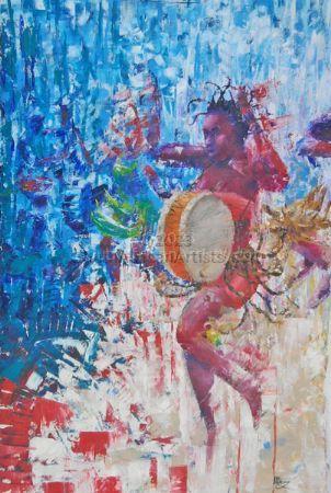 Dancing African Drummer Girl