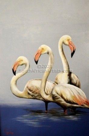 Three Flamingoes