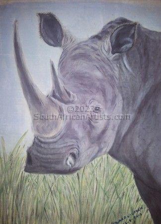 White Rhino Cow