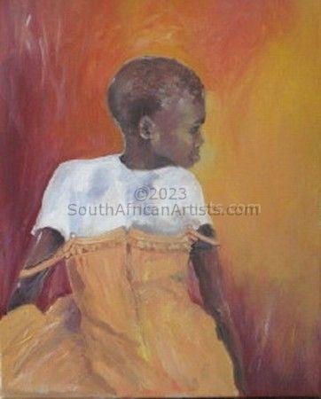 Girl in an Orange Dress