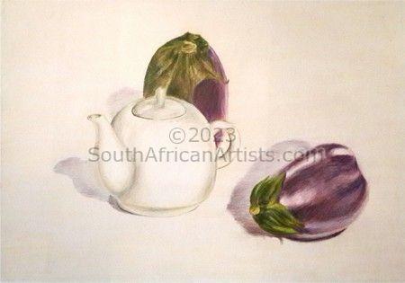 Teapot and Eggplant