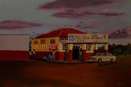 Zulu Store at Dusk