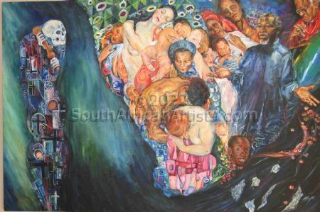 Klimt eye view of Death and Life