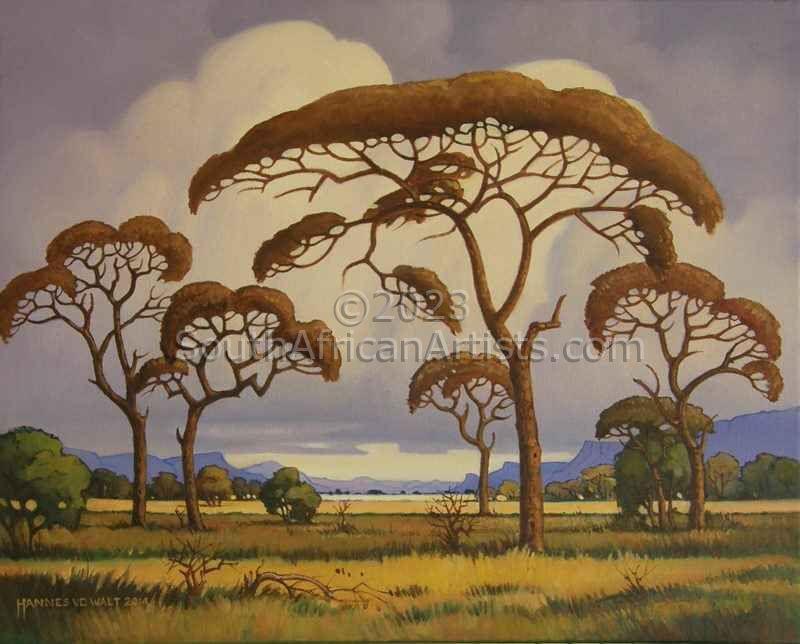 Bushveld Storm Approaching (Pierneef Style)