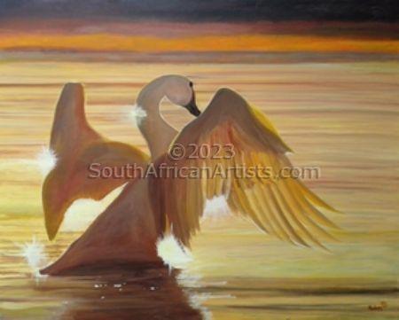Bronze Swan